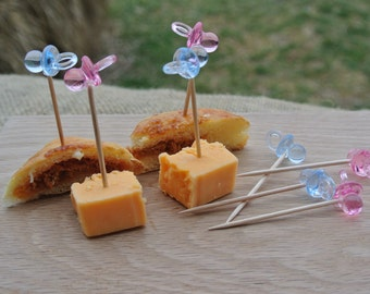 Gender Reveal Party  Food Picks, Baby Shower Decor, Appetizer Table Party Decor, 20