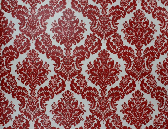retro wallpaper 1970s vintage red and white by retrowallpaper