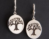 Tree of Life Earrings - De-Ox Sterling Silver