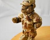 Small Military / Army Bear figurine