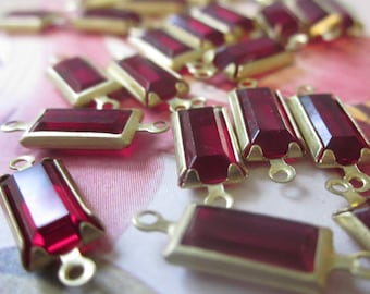 Ruby  Rectangular Glass Connectors