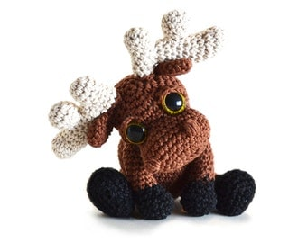Moose Amigurumi Crochet Pattern PDF Instant Download - Mostyn