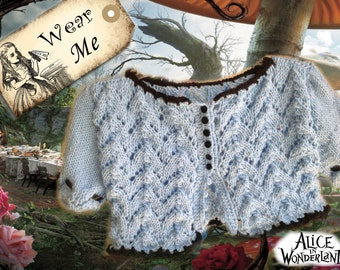 Disney Alice in Wonderland Fashion Shrug - photo shoot outfit / fashion knitted shrug