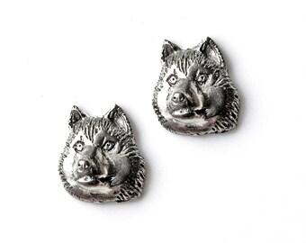 Husky Cufflinks - Gifts for Men - Anniversary Gift - Handmade - Gift Box Included