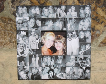 """Maid of Honor Collage Picture Frame, Unique Sister Gift, Personalized Custom Bridesmaid Frame, Wedding Frame, 12"""" X 12"""""""