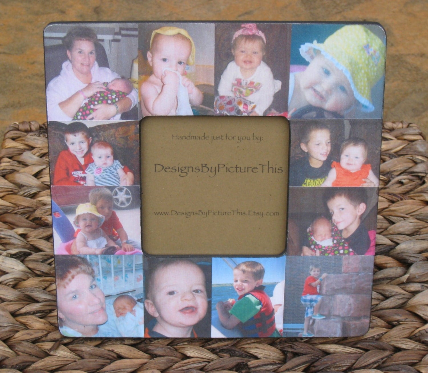 Baby's First Year Collage Picture Frame Unique Custom