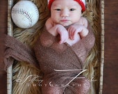 Sale Baby baseball hat Newborn Photography Prop beanie sizes nb, 1-3mos, 3-6mos, 6-12mos
