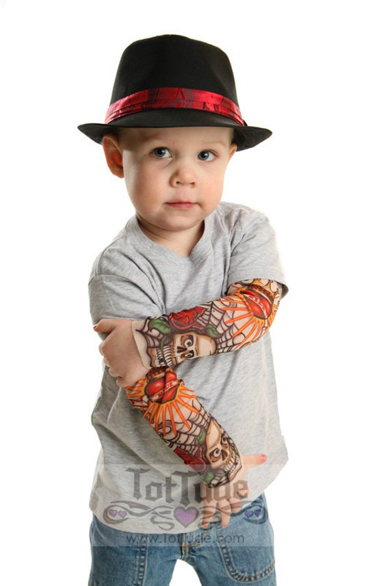 Shirt Sleeve Tattoo: Tattoo Sleeve Gray T Shirt For Babies And Toddlers