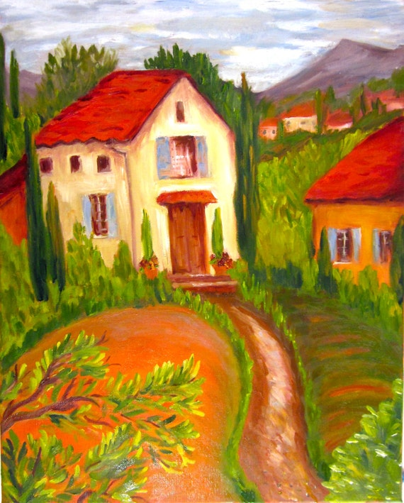 """Items Similar To Original Oil Painting: """" Road To The"""