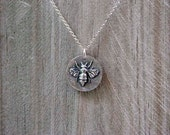 Queen Bee Solid 925 Sterling Silver necklace