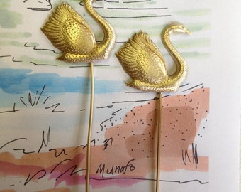 Romantic Swans on Wire ( 2 pc)