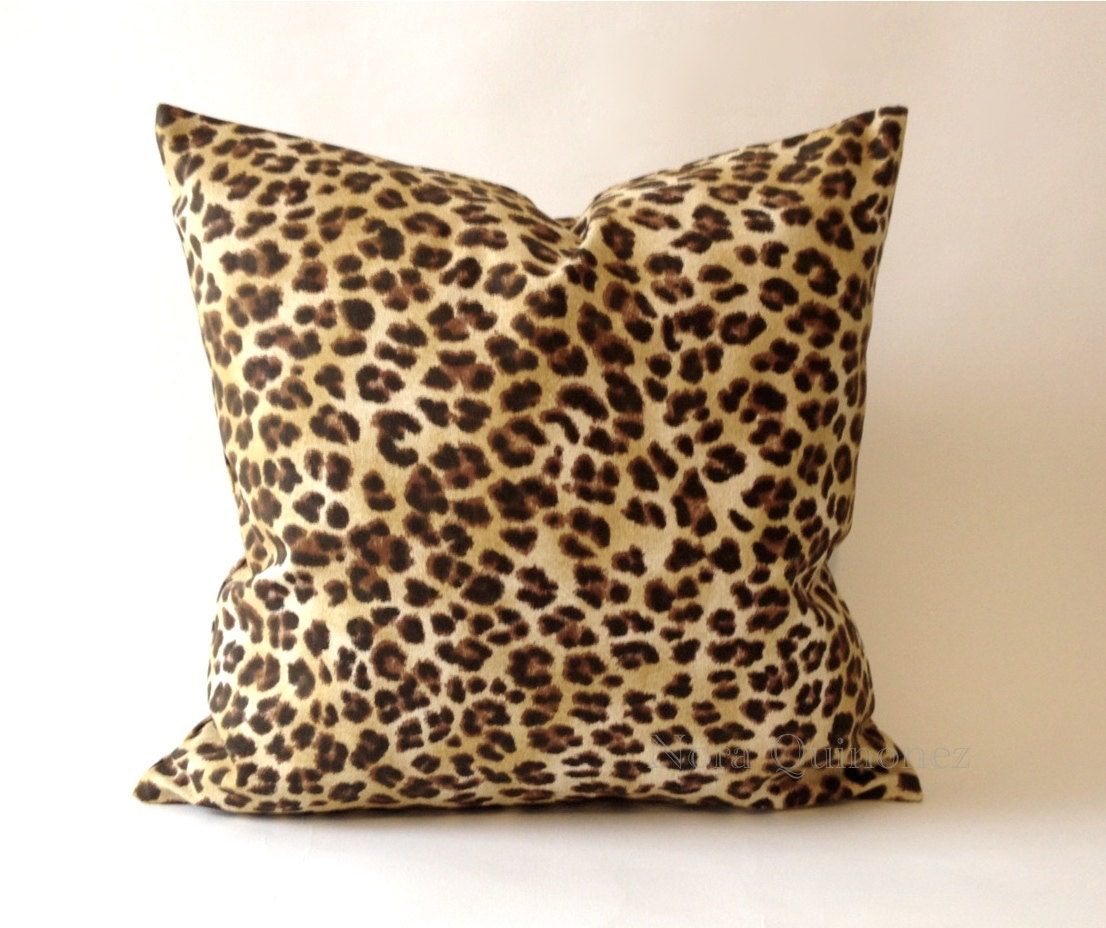 Leopard Print Decorative Pillow Cover Medium By NoraQuinonez