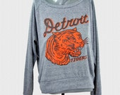 Detroit Tigers Sweatshirt Vintage 1935 Penant Inspired Design Womens Pullover