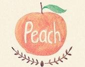 Peach - 5x7 Art Print