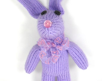 Beatrice the Bunny Rabbit - Stuffed Sock Animal