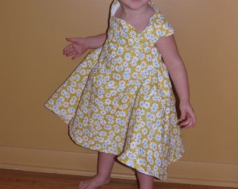Yellow Daisies Tea Time Dress