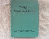 vintage book, Watkins Household Hints, by Elaine Allen, 1941, from Diz Has Neat Stuff