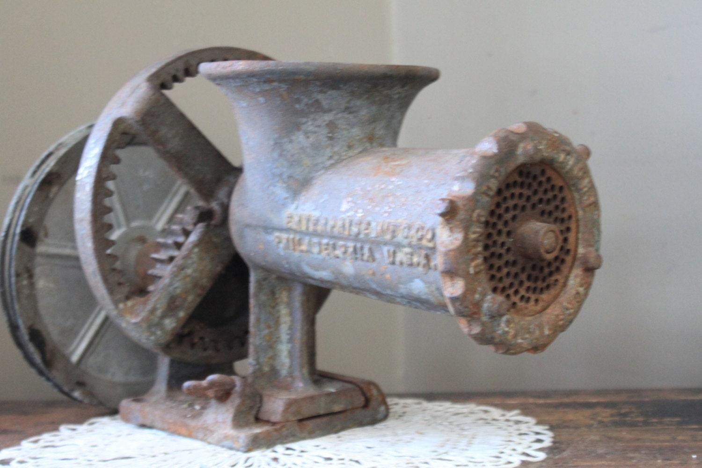 Antique 1900 S Enterprise Mfg Meat Grinder