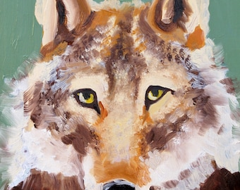 A Portrait of a Wolf