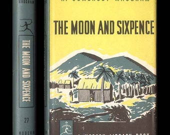 The Moon and Sixpence by W. Somerset Maughham, Modern Library Book No. 27 from 1963 Vintage Book