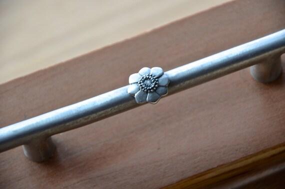 Classic Brushed Nickel Restoration Hardware Floral Pull