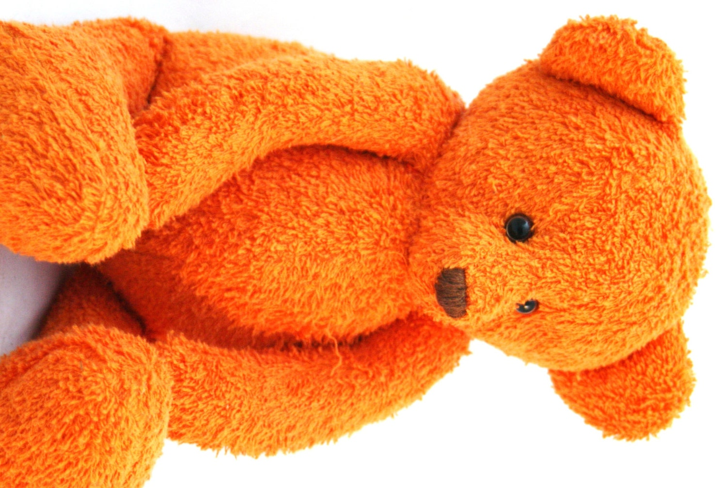 Handmade ooak orange baby size artist teddy bear for Orange colour things