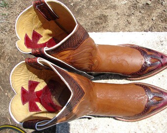 City of Angels-Deer tanned Cowhide & Roo Cowboy Boots Custom Hand Made to Order for your feet