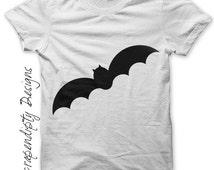 Bat Iron on Shirt - Halloween Outfit Iron on Transfer / Kids Halloween Shirt / Toddler Boys Tshirt / Kids Boys Clothing Tops / Baby IT32