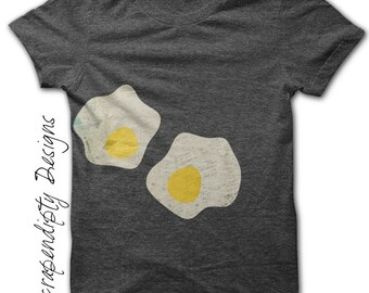 Fried Egg Iron on Transfer - Food Iron on Shirt / Funny Toddler Shirt / Kids Boys Clothing Tops / Girls Egg Shirt / Breakfast Clothes IT9