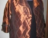 Womens 1X Copper Plus Size Swing Jacket