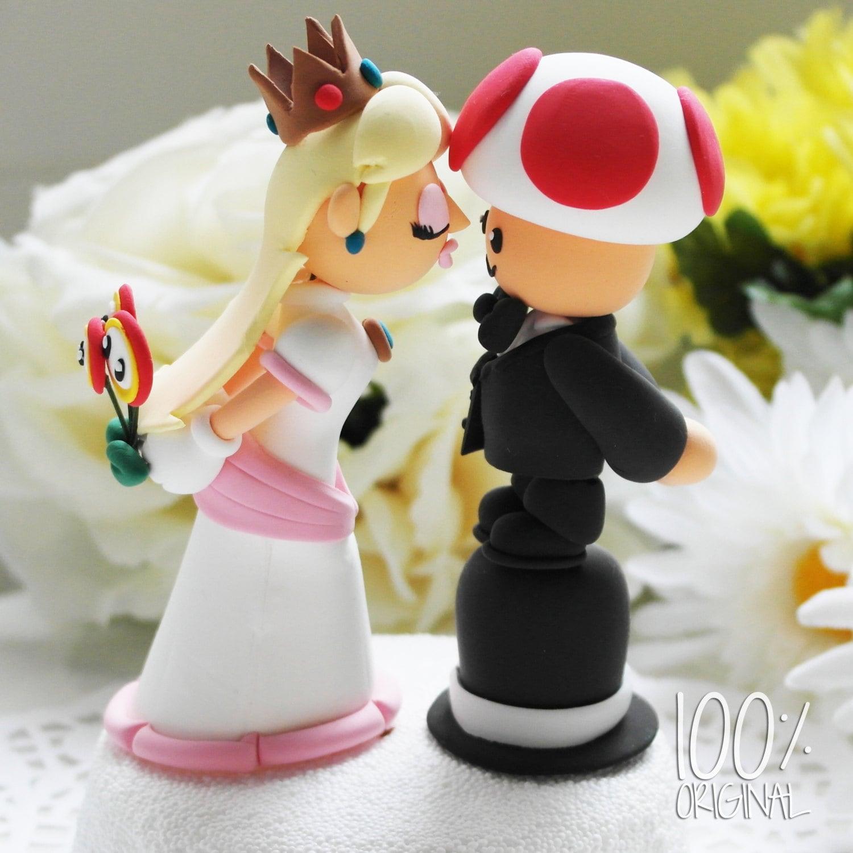Custom Wedding Cake Topper Princess Peach And Toad