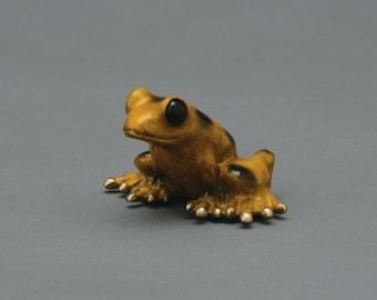 Panama, a Panamanian Golden Frog, limited edition bronze sculpture