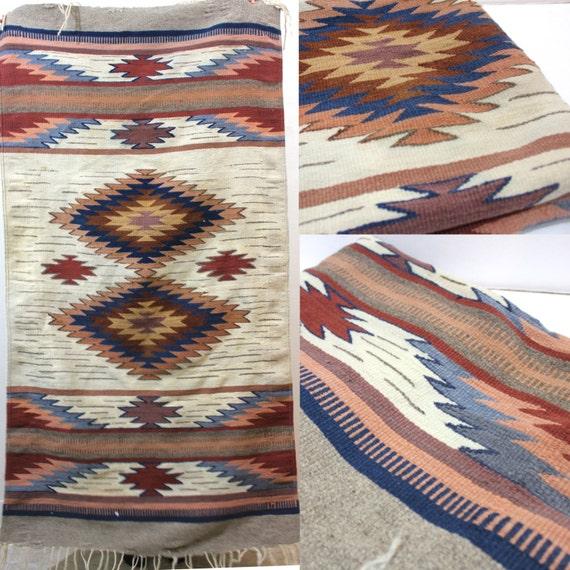 Vintage Retro Aztec Bohemian Navajo Print Rug By