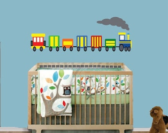REUSABLE Train Wall Decal - Childrens Decals - B613