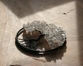 "Crystal Quartz Tree of Life pendant / decoration - 70mm / 2.75"""