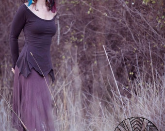 Elven Lotus Top - long sleeved Pixie Top