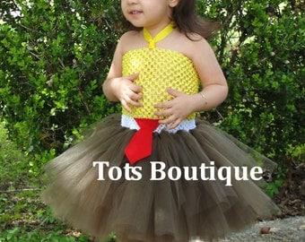 Toddler- Red Tie Inspired Tutu Dress