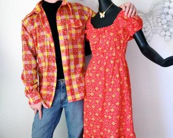 Men's Bandana Print Rockabilly Hillbilly Ski Wind Shirt Windshirt SKYR Nylon Waterproof Vintage 1970s Skiwear Ski Wear Retro 70s Ski Jacket