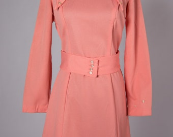 1970s tailored dress with belt - dress cute and professional like Mary Tyler Moore