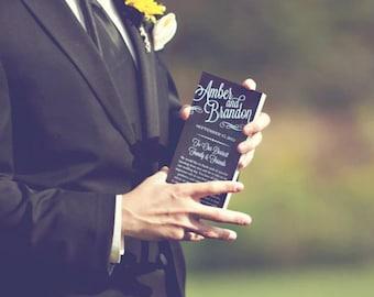 Chalkboard Style Wedding Programs