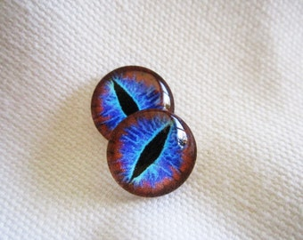 Glass eyes dragon eyes 12mm glass cabochons