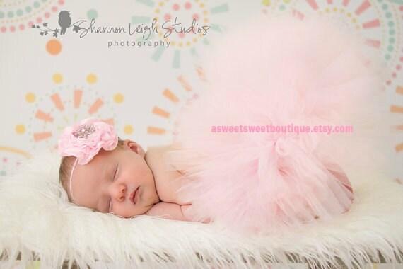 Pale Pink Tutu Baby Girl Tutu Pink Tutu Pink Baby Tutu Pink Newborn Tutu With Matching Headband Tutu And Headband Set Newborn Photo Prop