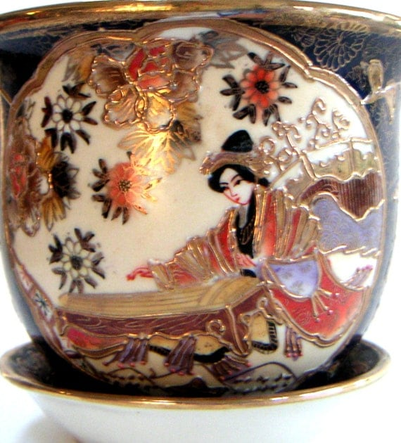 Vintage Japanese Porcelain Jardiniere Planter/Flower Pot
