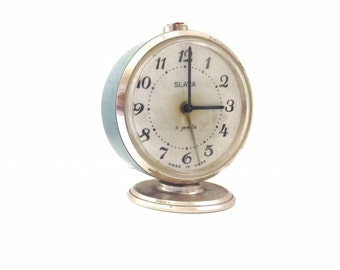 RETRO small CLOCK, use for home decor or to wake you up.