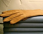 vintage leather gloves pair tan