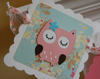 Owl Photo Banner, Owl 12 Month Banner, Owl 1st Birthday, Owl Theme, Owl Decorations, Hoot Hoot Pink Aqua