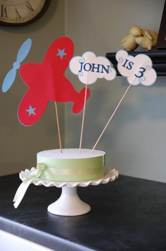 Airplane Cake Topper Airplane Smash Cake Airplane