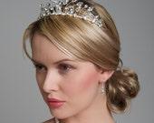 Wedding Tiara - Wedding, Bridal Hair Accessories, Silver Diamante and Swarovski Crystal, Crystal tiara, tall tiara, bridal headpiece brides