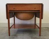 Danish Modern Hans Wegner AT-33 Teak Sewing Table