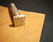 Custom Leather Stamp with hammering handle